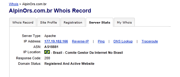 Traces Back Brazil TLD (.bz) To A Server Hosted in Brazil