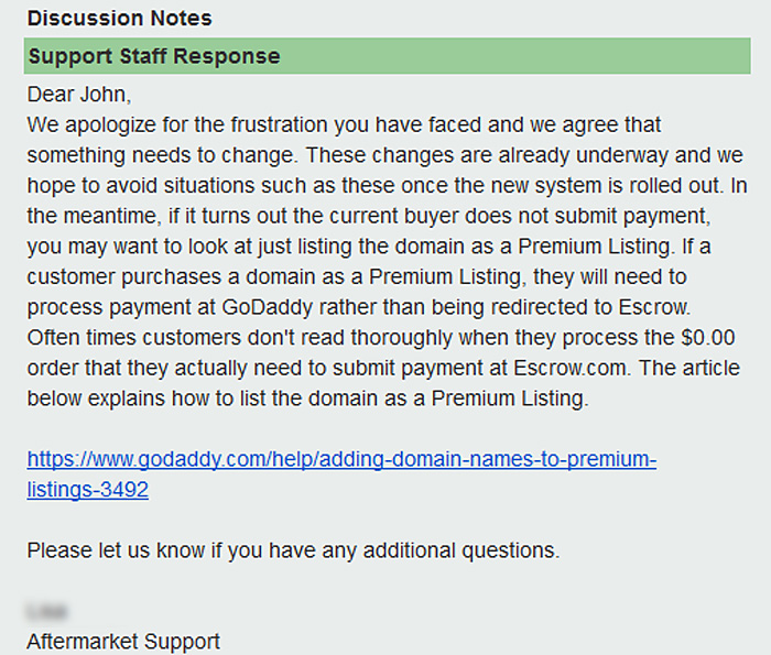 Just Another 'Go-Nowhere' Transaction at GoDaddy's