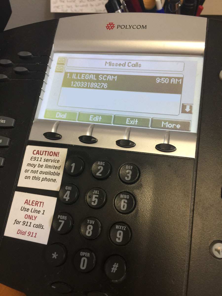 Phone not showing caller id