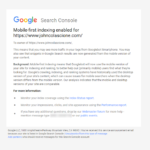 "Google Has Begun It's ""Mobile First"" Indexing Endeavours; Email Notification"