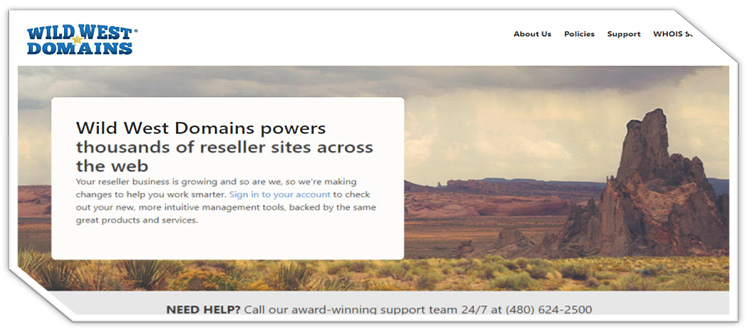 Wild West Domains Powers Thousands Of Reseller Sites Across The Web