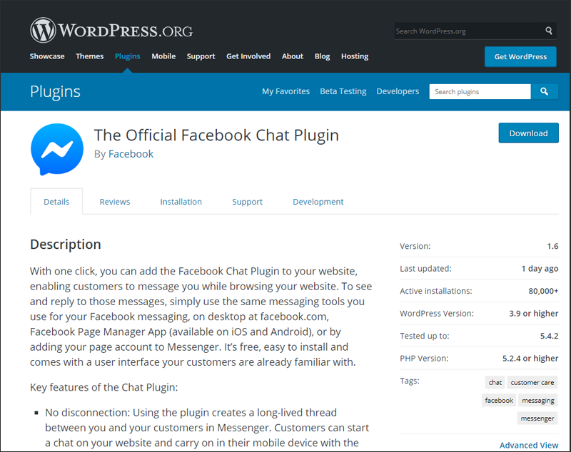 Facebook Chat Plugin